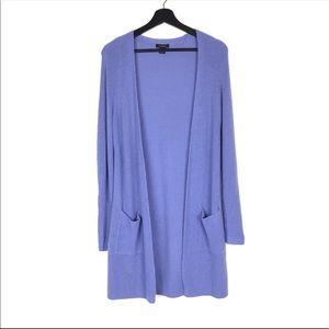 Halogen Periwinkle Blue Long Open Front Cardigan